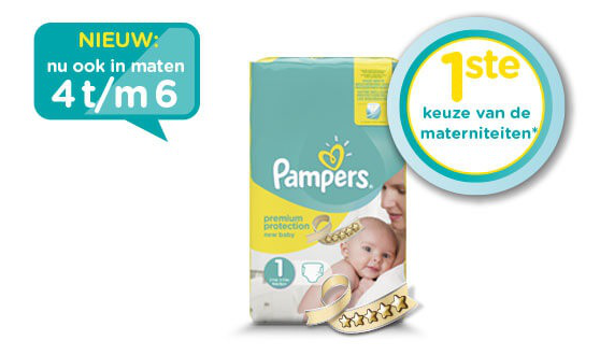 Pampers Premium Protection nu ook in grotere maten